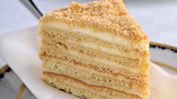 Медовый торт сосметанным кремом, пошаговый рецепт с фото