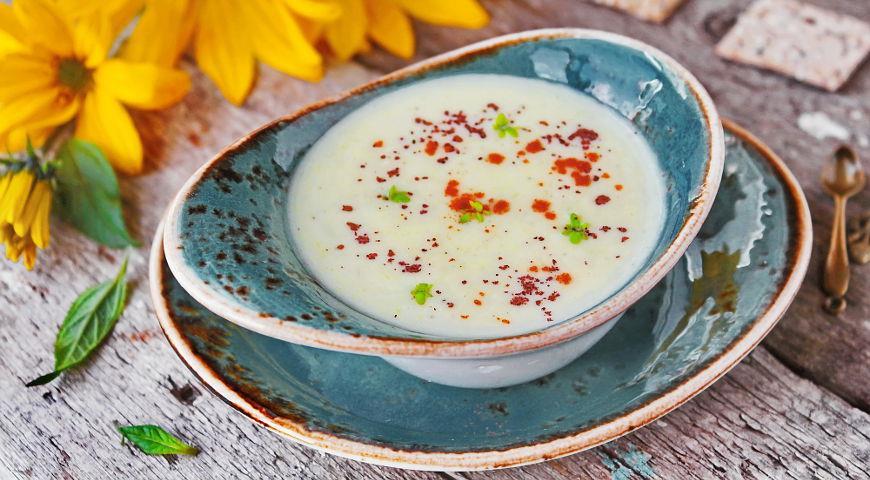Рецепт Сливочный суп-пюре из топинамбура