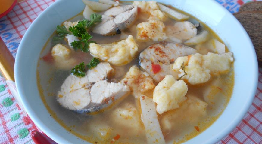 Рецепт Рыбный суп с клецками