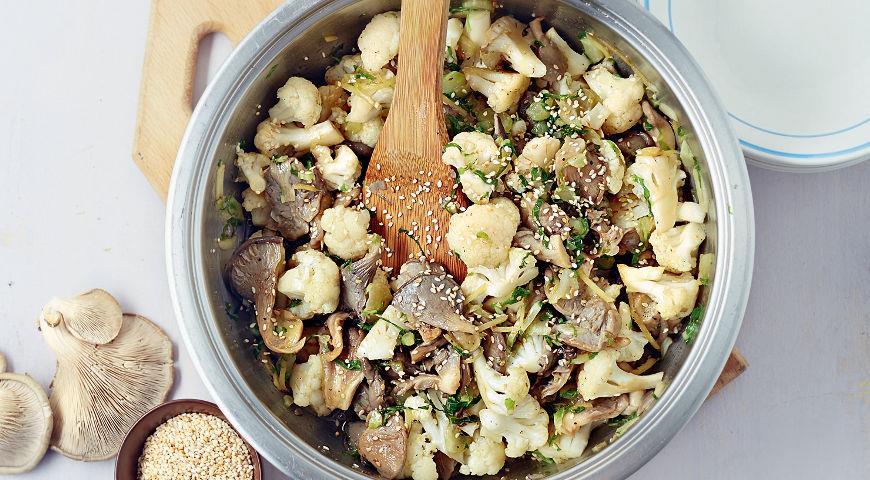 Рецепт Вешенки с цветной капустой