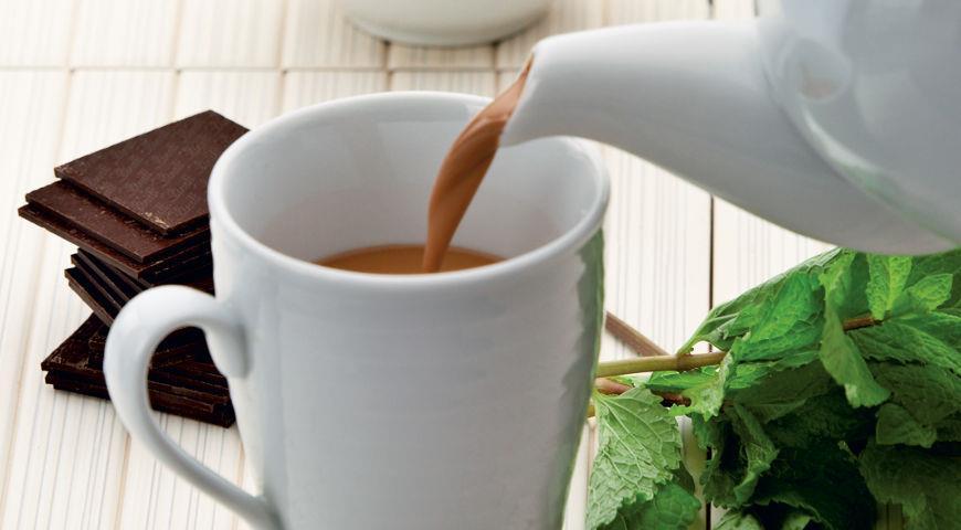 Рецепт Мятный шоколадный чай