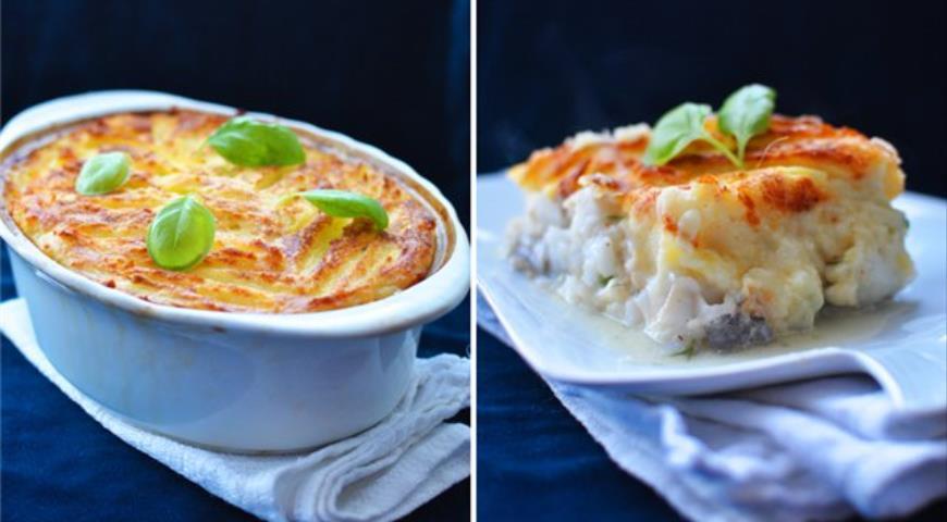 Рецепт Рыба под молочным соусом и картофелем