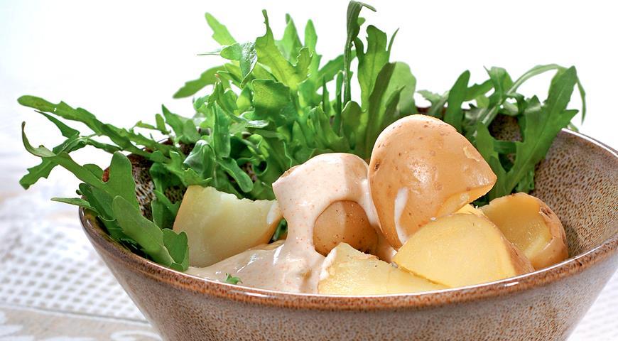 Рецепт Молодой картофель с пикантным йогуртом