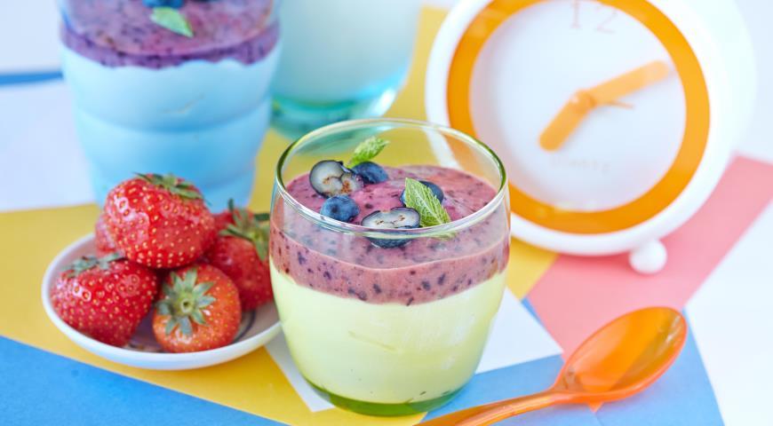 Рецепт Мгновенный творожный крем с ягодами