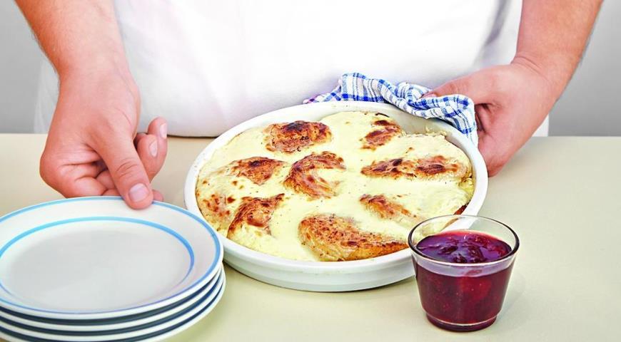 Сырники, запеченные со сметаной. Шаг 6