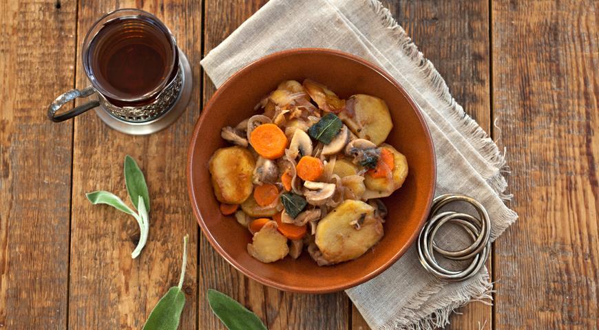 Рецепт Жареная картошка с грибами