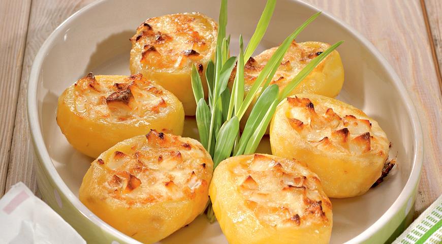 Рецепт Картофель, фаршированный сыром