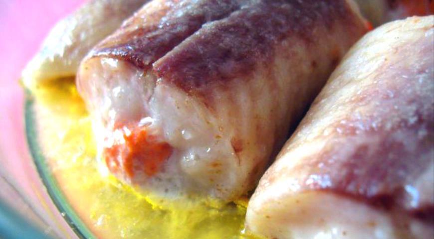 Рецепт Рыбные рулетики с рыбным муссом