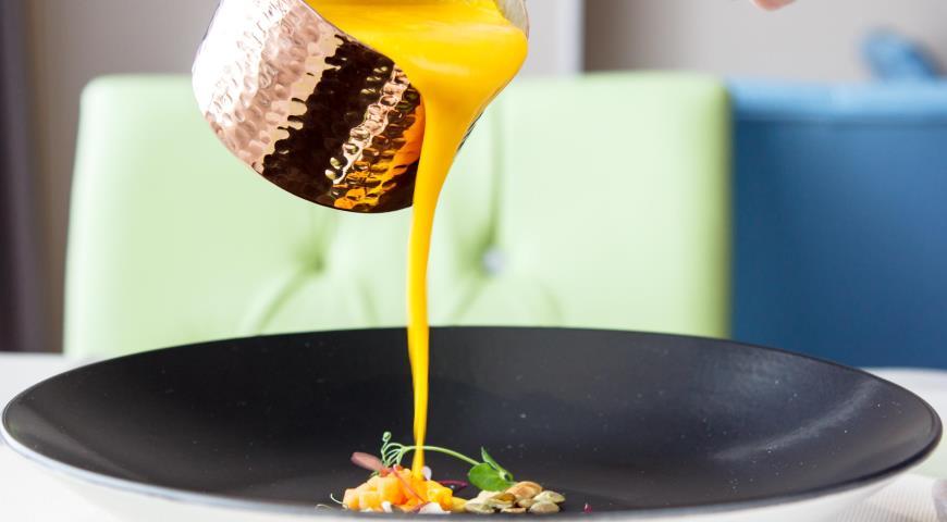 Рецепт Суп тыквенный с имбирем