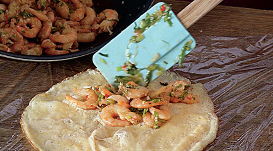 Тайский омлет с креветками, пошаговый рецепт с фото