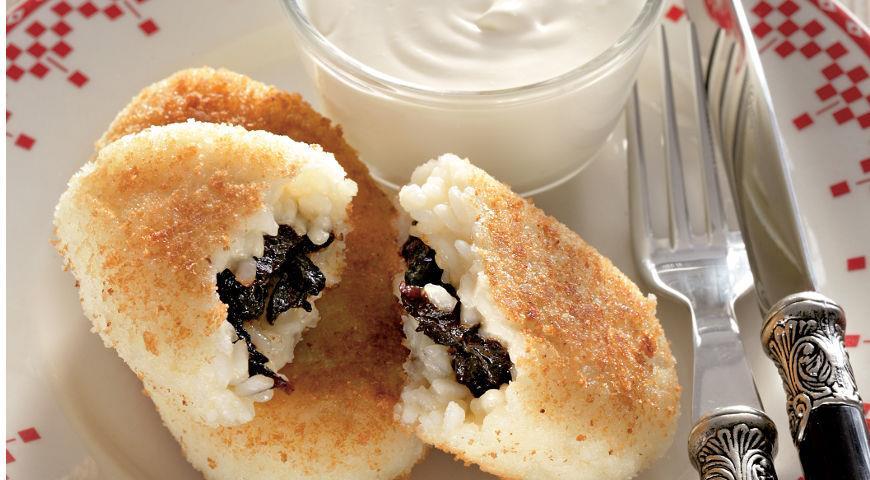 Рецепт Зразы из рисовой каши на молоке с черносливом