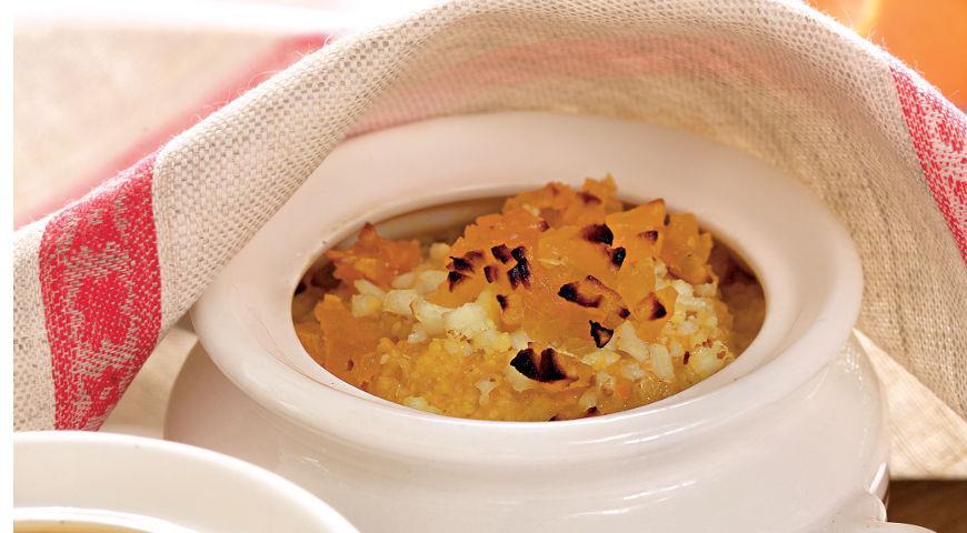 Рецепт Пшенная каша с тыквой и яйцами