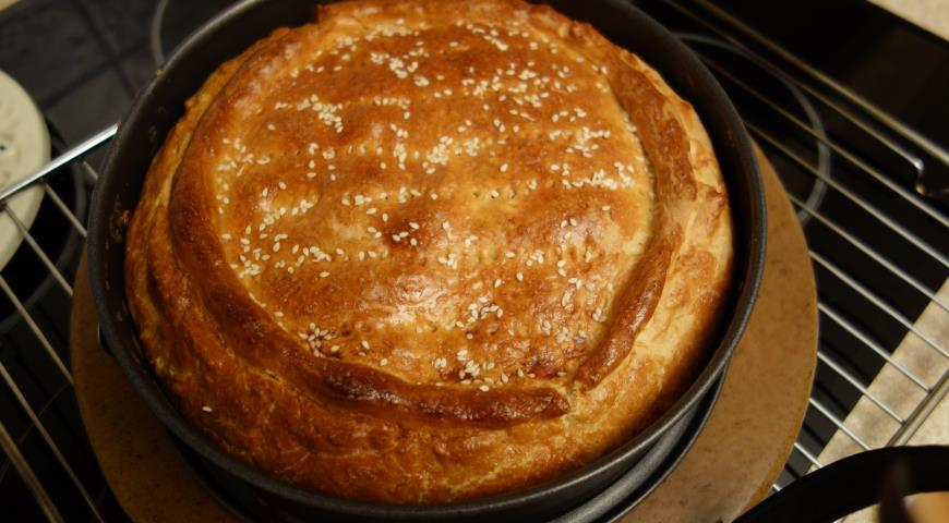 Рецепт Пирог с рыбой и квашеной капустой