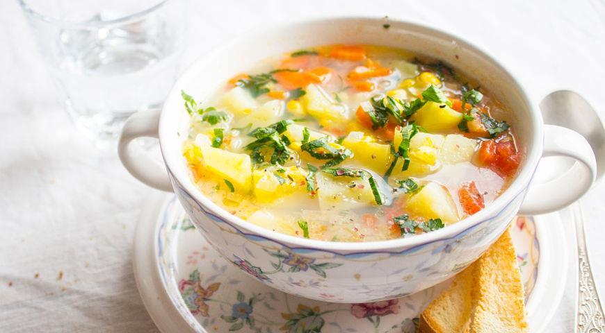 Рецепт Картофельная похлебка со сладкой кукурузой