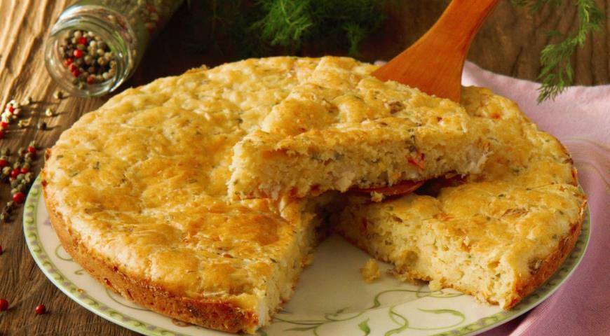 Рецепт Рыбный пирог на скорую руку