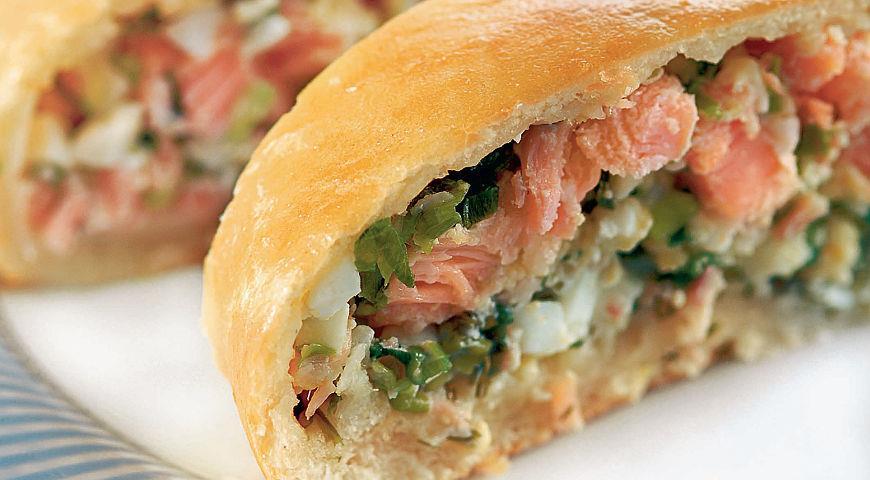 Рецепт Скандинавский рыбный пирог с копченой горбушей