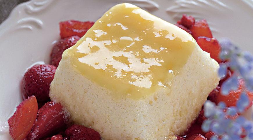 Рецепт Ванильное суфле на молоке с фруктовым конфитюром