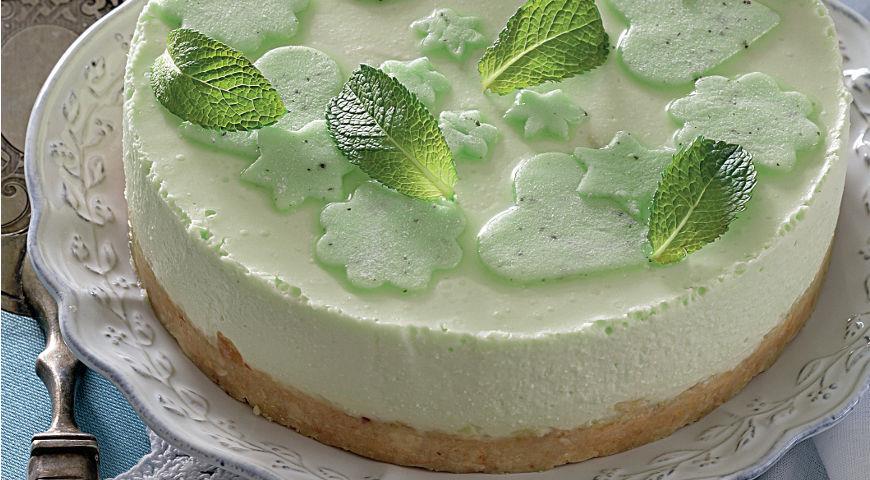 Рецепт Творожный чизкейк с зеленым чаем