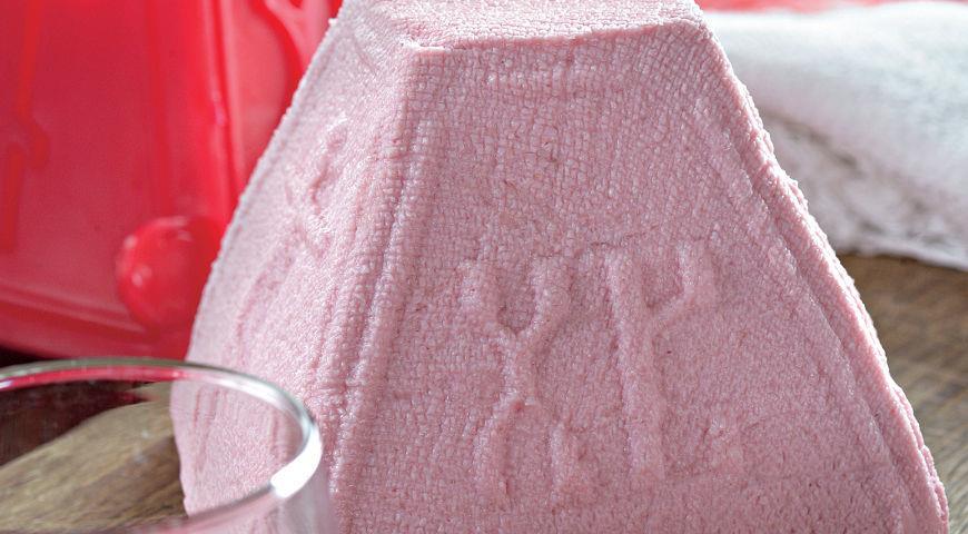Рецепт Розовая пасха с вареньем