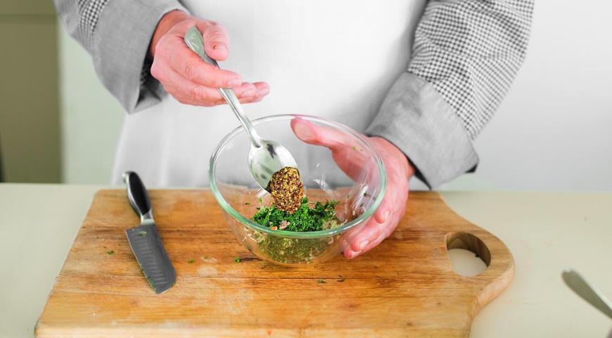 Салат из пасты с тунцом и кукурузой. Шаг 6