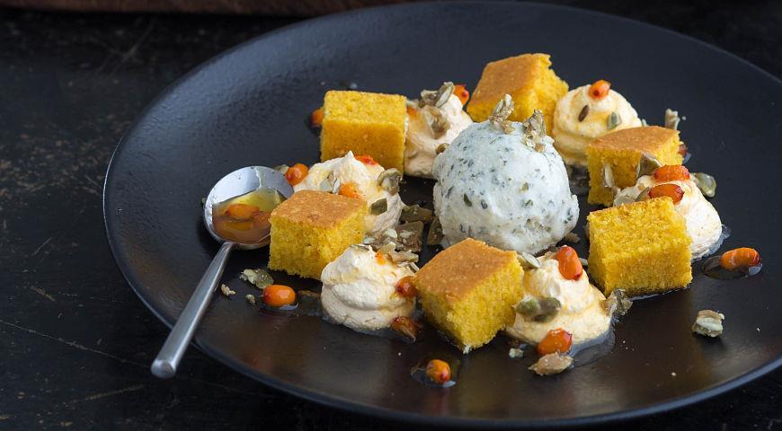 Рецепт Тыквенный десерт с облепихой
