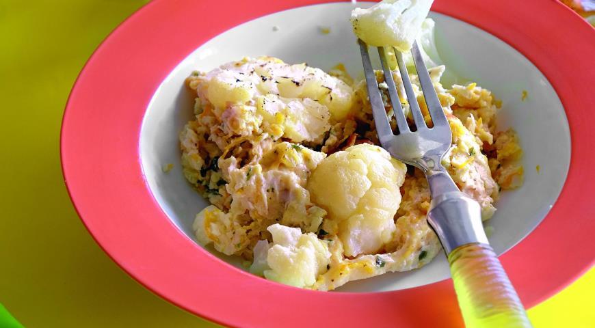 Рецепт Куриное суфле с цветной капустой