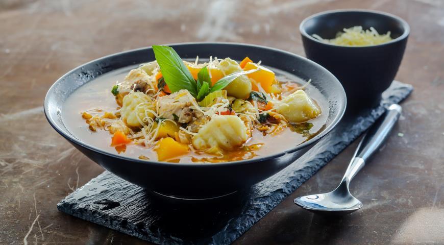 суп пюре с курицей и овощами рецепт с фото