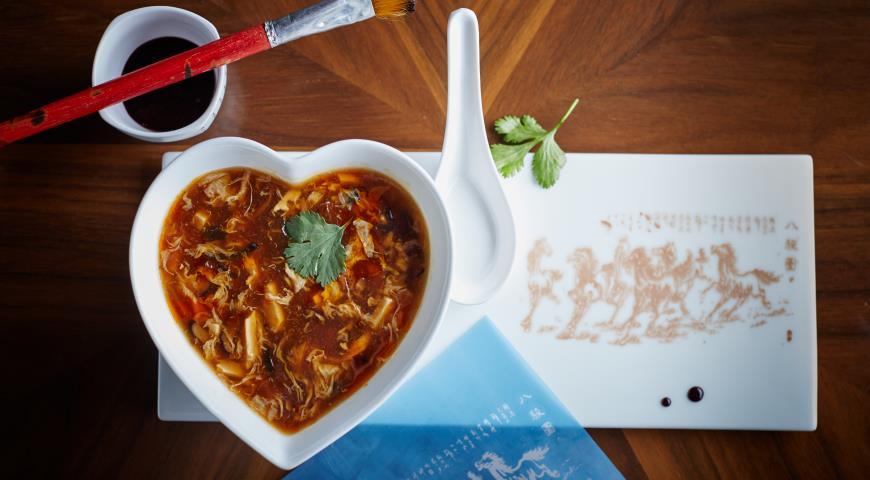 Рецепт Кисло-острый суп с курицей