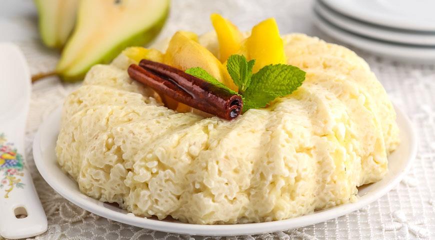 Рецепт Рисовая каша с грушами