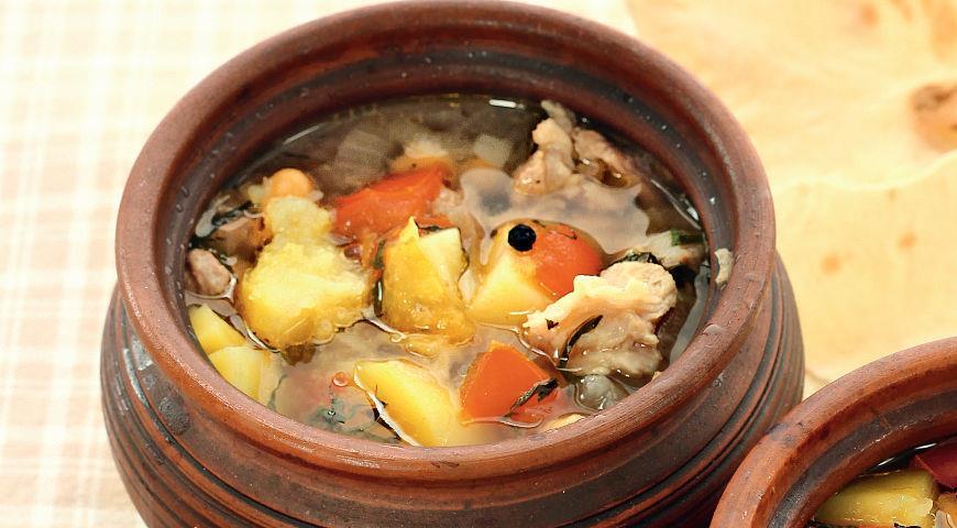 Рецепт супа пити из баранины