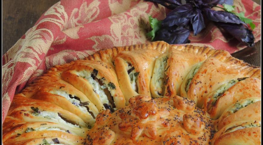 Рецепт Пирог с рикоттой и зеленью