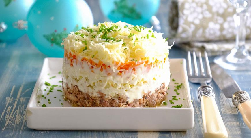салат мимоза из сайры рецепт с фото