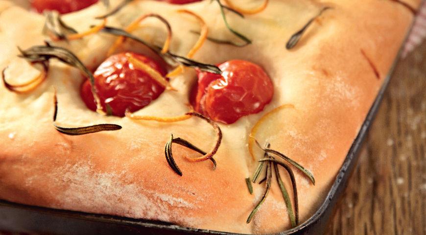 Рецепт Фокачча с помидорками черри