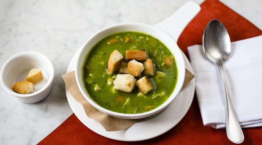 Рецепт Куриный суп с тыквой и соусом песто из рукколы