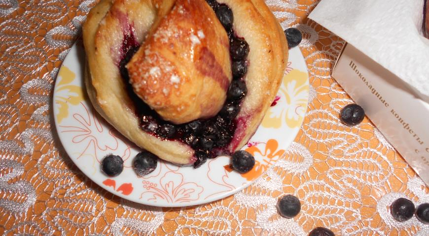 Рецепт Вкуснейшие черничные булочки