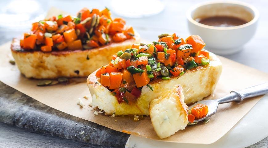 Рецепт Жареный адыгейский сыр с овощами