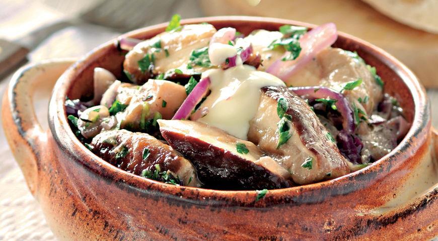 Грибная закуска в греческом стиле, пошаговый рецепт с фото