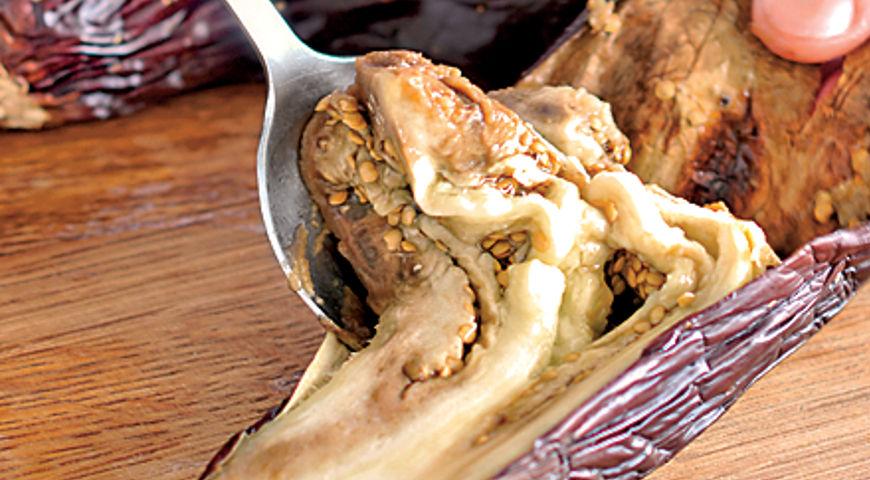 Баклажанная закуска с горошком и кинзой, пошаговый рецепт с фото