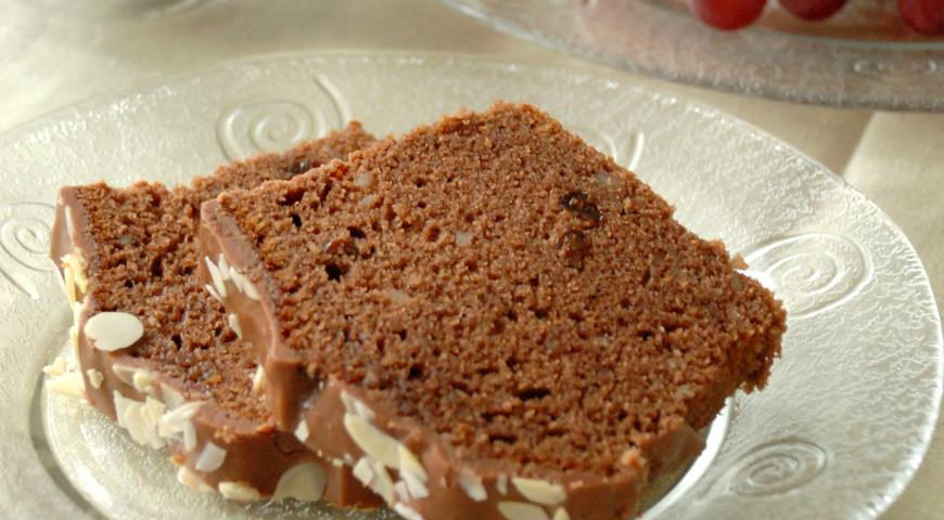 Рецепт Кекс на красном вине с шоколадом и абрикосовым мармеладом