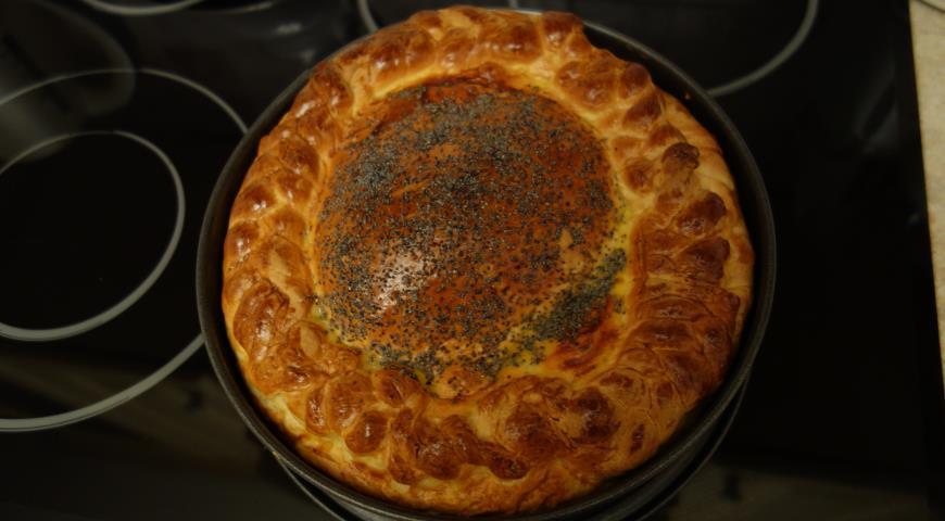 рецепт пирога из кабачков с мясом