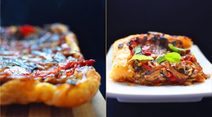 Рецепт Тарт-перевертыш с хрустящим дном и овощами
