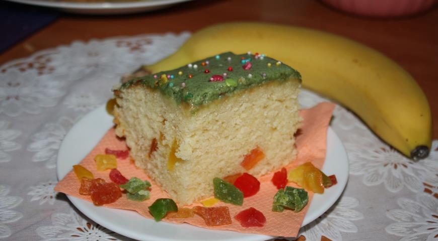 Рецепт Лаймовый кекс с банановым кремом