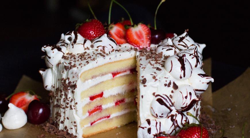 торт с пропиткой и кремом рецепт с фото