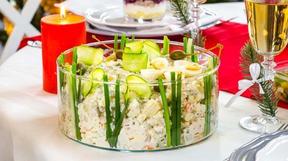 рецепты овощных салатов с заправкой