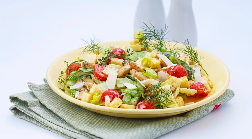 итальянский цезарь с курицей рецепт