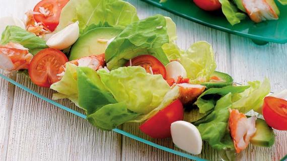 Королевский крабовый салат