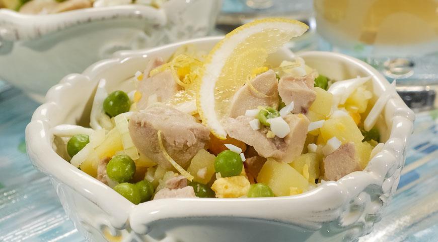 салат подсолнух из печени трески пошаговый рецепт