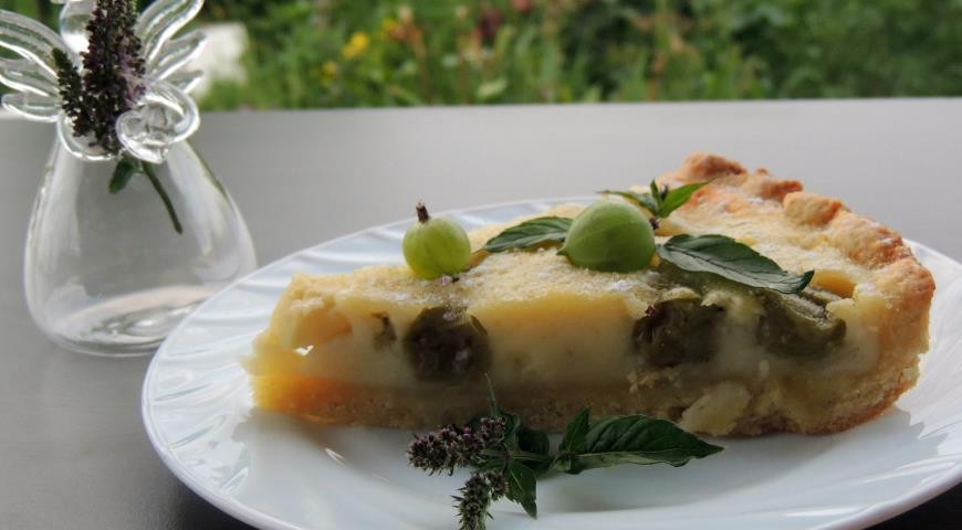 Рецепт Песочный пирог с яблоком и крыжовником