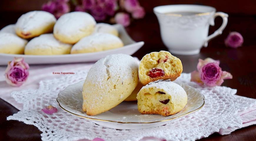 Рецепт Печенье с кукурузной мукой и вишней