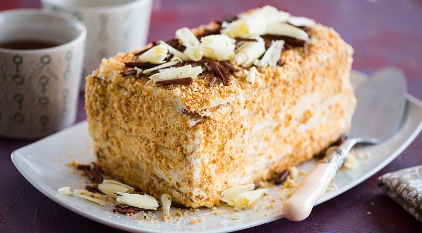рецепт торт наполеон простой пошаговый